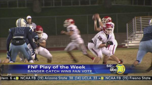 Sanger catch wins Friday Night Football Play of the Week