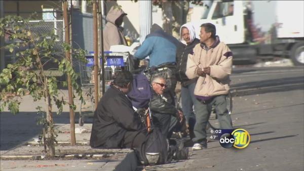 Fresno's homeless search for shelter from cold temps