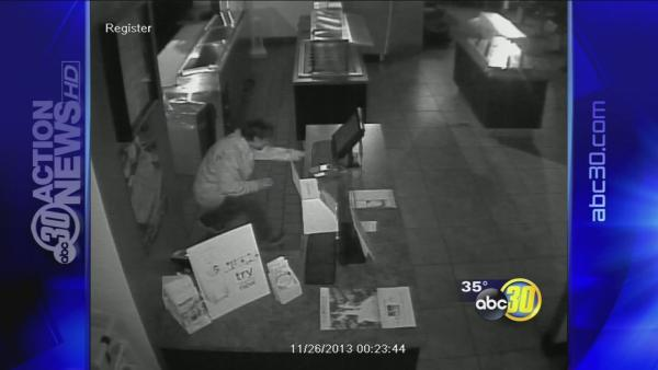 Wanted Fresno burglar caught on camera