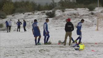 Low elevation snow in the Central Valley catches some off guard