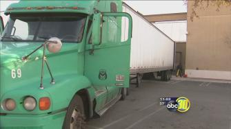 Truck driver pinned while making delivery in Fresno