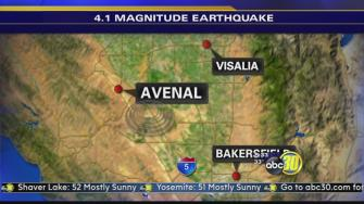 Earthquake shakes parts of the Central Valley