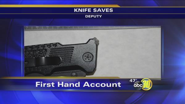 Pocket knife stops bullet from striking Fresno County deputy