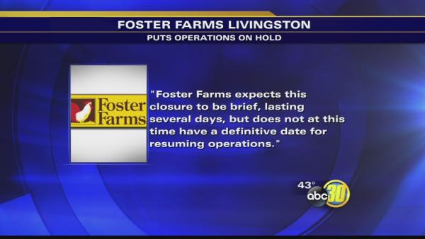 Foster Farms voluntarily suspends operations at Livingston plant