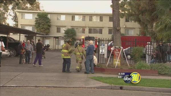 2-alarm fire burns Fig Garden Villa Senior Community