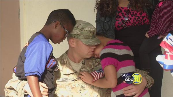 Valley soldier returns home, surprises kids at school