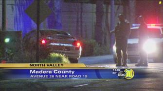 Authorities investigate a shooting in Madera County