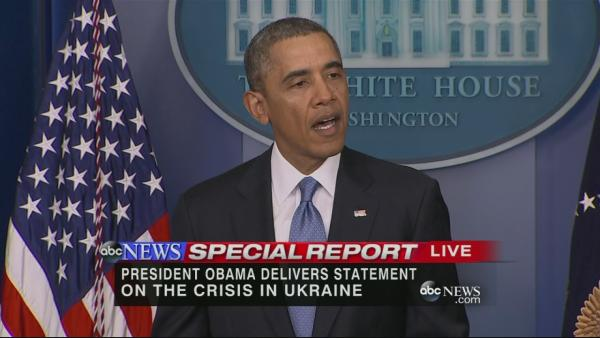 President Obama remarks on the situation in Ukraine