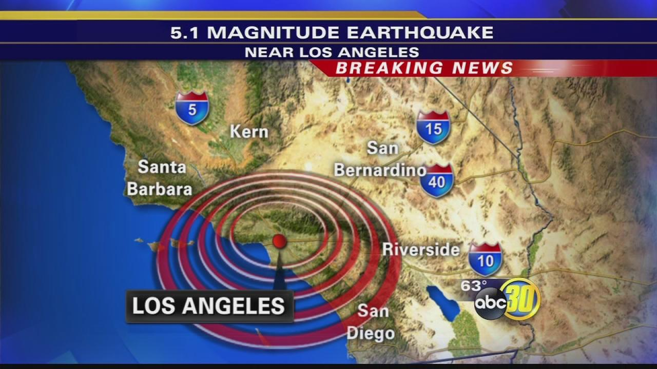 Magnitude 5 1 earthquake shakes los angeles area for Where do you go in an earthquake