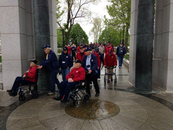 68 veterans are members of the second Central Valley Honor Flight. They toured several military monuments in our nation&#39;s capitol, including the World War II Memorial -- and all expenses were paid by donations. <span class=meta>(KFSN Photo&#47; Warren Armstrong)</span>