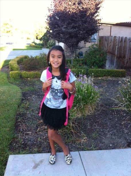 Caitlin&#39;s first day of school <span class=meta>(KFSN Photo&#47; uReport)</span>