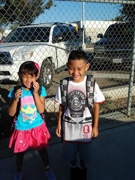 Jazmin 1st grade, Michael 2 grade <span class=meta>(KFSN Photo)</span>