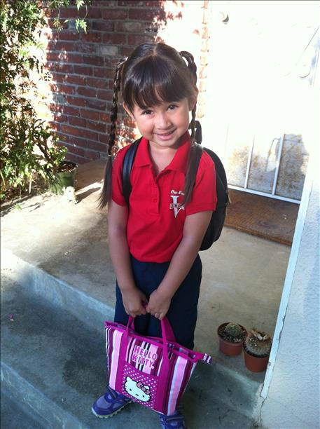 CJ&#39;s first day of school <span class=meta>(KFSN Photo&#47; uReport)</span>