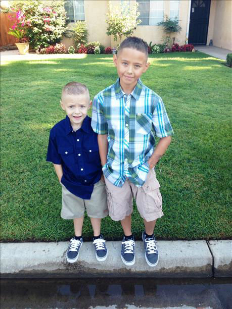 Tyler started 4th grade and Kayden started 3rd grade in Fresno <span class=meta>(KFSN Photo&#47; uReport)</span>