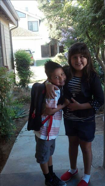 Ben 2nd grade &amp; Emma 3rd grade <span class=meta>(KFSN Photo)</span>