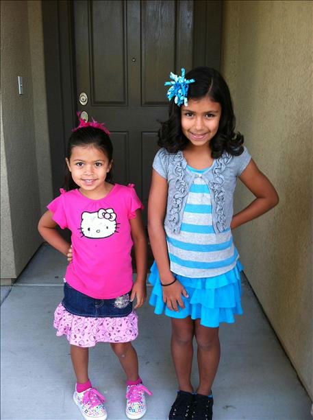 Madison &#40;5&#41; 1st grade, Samantha &#40;9&#41; 4th grade, in Visalia, CA <span class=meta>(KFSN Photo&#47; uReport)</span>