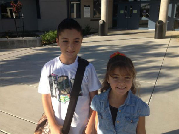 "<div class=""meta ""><span class=""caption-text "">Hunter & Kaydie 4th & 1st Grade -- Central Unified School District (KFSN Photo/ uReport)</span></div>"