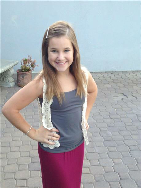 Abby&#39;s first day of school photo! 7th grader in Visalia. <span class=meta>(KFSN Photo&#47; uReport)</span>