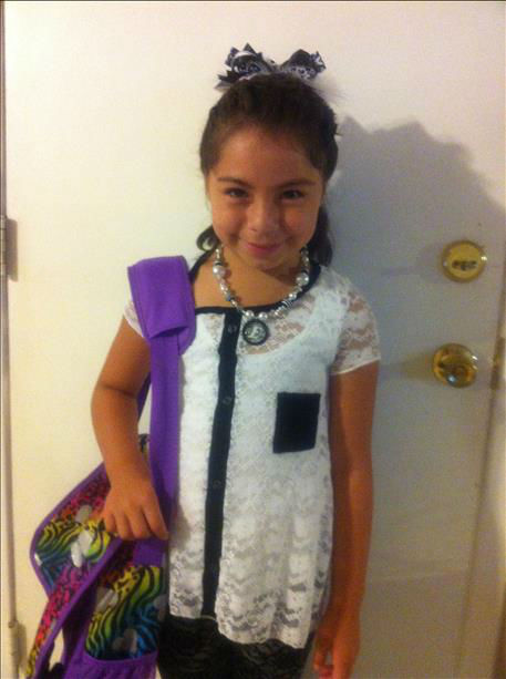 "<div class=""meta ""><span class=""caption-text "">Emily first day of second grade (KFSN Photo/ uReport)</span></div>"