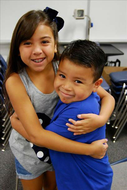 Arianna 4th grade and Jacob kindergarten. Started school this week in Fresno <span class=meta>(KFSN Photo&#47; uReport)</span>