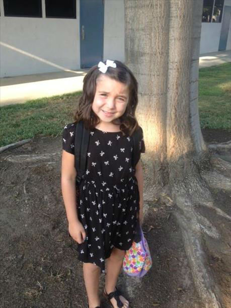 Sophia&#39;s first day of 1st grade <span class=meta>(KFSN Photo&#47; uReport)</span>