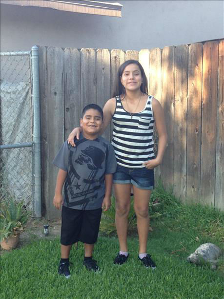 Michael 2nd grade &amp; Alicia 7th grade <span class=meta>(KFSN Photo&#47; uReport)</span>