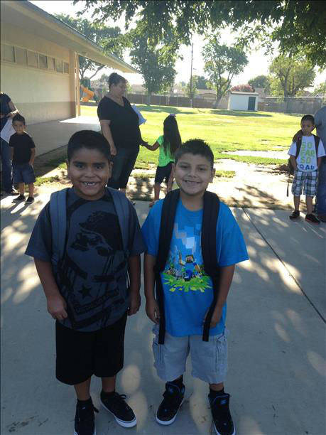 Michael 2nd grader &amp; Alfonso 1st grader in Tulare <span class=meta>(KFSN Photo&#47; uReport)</span>