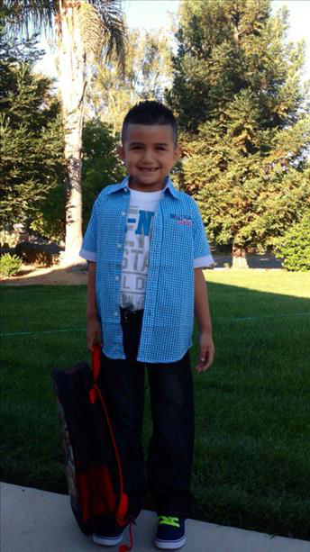 "<div class=""meta ""><span class=""caption-text "">1st day of school Brian 2nd grade Madera Unified (KFSN Photo/ uReport)</span></div>"