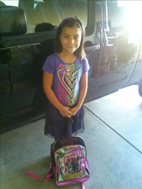 Nevia -- 1st day of 3rd grade in Firebaugh <span class=meta>(KFSN Photo&#47; uReport)</span>