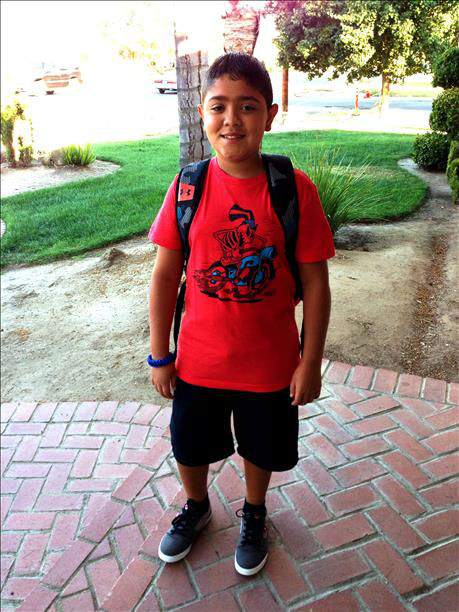 "<div class=""meta image-caption""><div class=""origin-logo origin-image ""><span></span></div><span class=""caption-text"">Aaron is starting his first day of 5th grade. He also just turned 11 years old today! (KFSN Photo/ uReport)</span></div>"