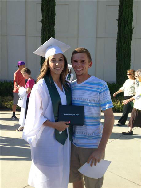 "<div class=""meta ""><span class=""caption-text "">Hoover Grad, Megan Kemple with boyfriend, Joel Hooper! (KFSN Photo/ uReport)</span></div>"