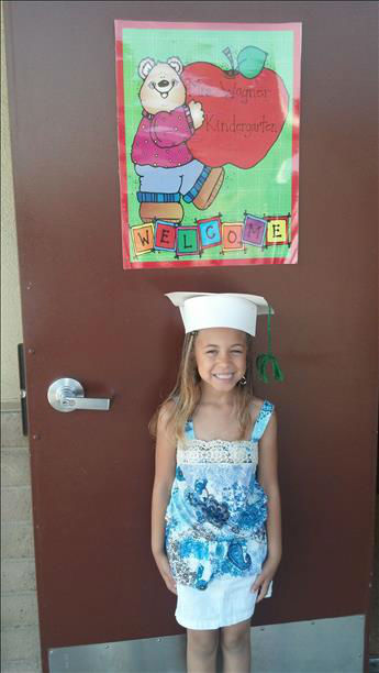 Cayla graduated from Mrs. Wagner&#39;s Kindergarten class at Webster Elementary in the Madera Ranchos. Congratulations, Cayla! Thanks, Becca and JJ Johnson <span class=meta>(KFSN Photo&#47; uReport)</span>
