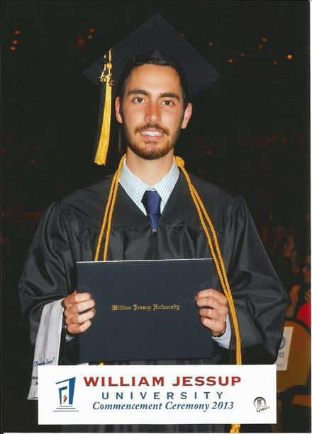 "<div class=""meta ""><span class=""caption-text "">Drew Bell graduates with awards for business, founder's, and magna cum laude. And ladies, he's single! (KFSN Photo/ uReport)</span></div>"