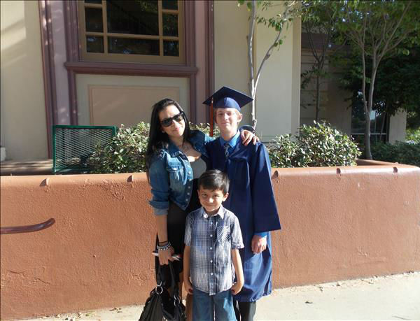 My nephew Garrett, Graduating from VTec , Visalia, Class of 2013 , and my Daughter Malorie and Grandson Masen <span class=meta>(KFSN Photo&#47; uReport)</span>