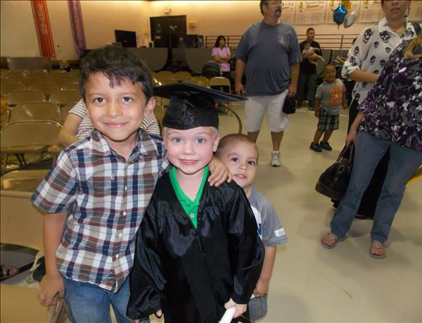Tyler and his cousins, Masen and Kaden! Congrats Tyler, next step , Kindergarten <span class=meta>(KFSN Photo&#47; uReport)</span>