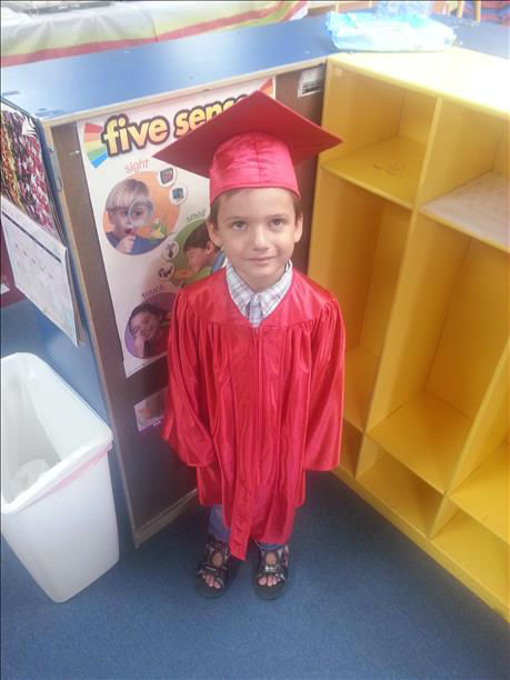 "<div class=""meta ""><span class=""caption-text "">Here is a pic of my son Nash age 5 graduating from preschool. (KFSN Photo/ uReport)</span></div>"