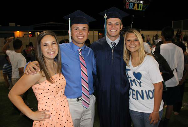 Clovis East 2013 Graduation -- Davis Holland and Preston Pratt  <span class=meta>(KFSN Photo&#47; uReport)</span>