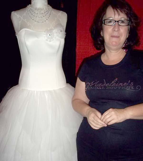 Madeleines Bridal showed off some of the dresses...