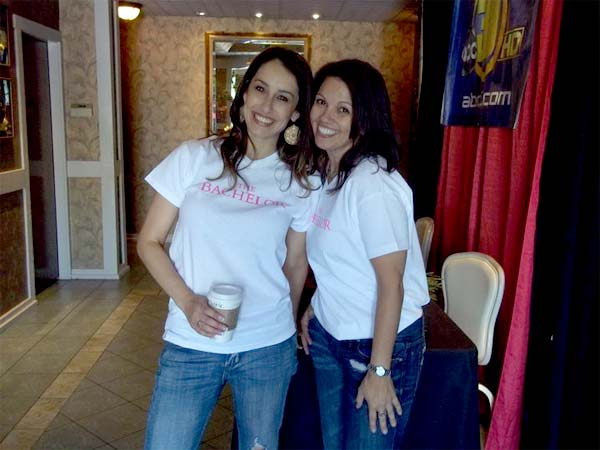 Sheena and Marisela, two of the ABC30 staff that help put this event on.