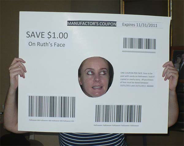 I love coupons so this year for Halloween I made sure to dress up like one! I made the costume all by myself.