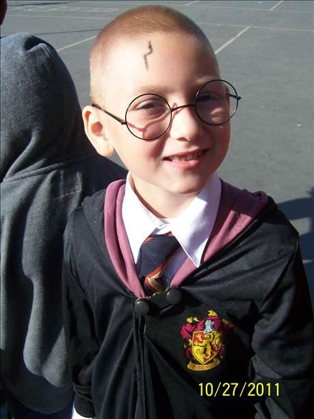 My son dressed at Harry Potter at Weldon Elm.