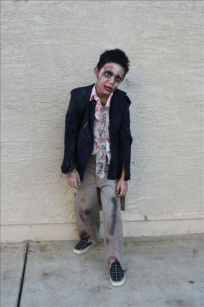Sonny as a Zombie business man. NAS Lemoore