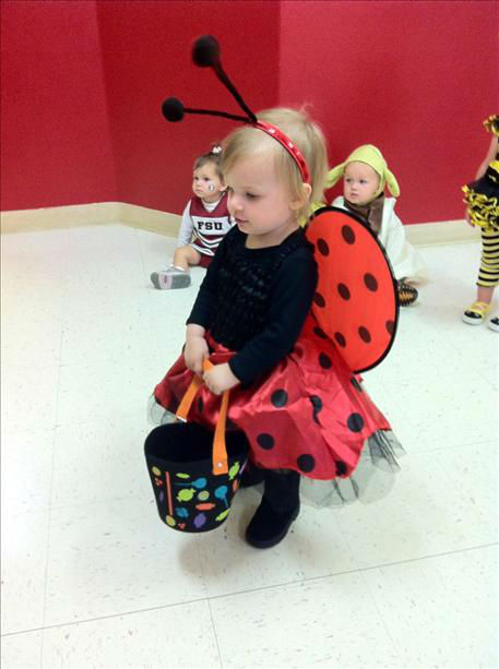 My neice as a ladybug trick or treating at daycare! <span class=meta>(KFSN Photo&#47; uReport)</span>