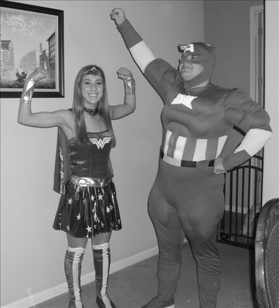 Here to save the day! WonderWoman and Captain America are here to save the day! <span class=meta>(KFSN Photo&#47; uReport.abc30.com)</span>