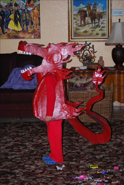 Salcido Twins. Profile.  Too bad you can&#39;t see the &#34;Candy Chomper.&#34;  You put candy in the dino&#47;dragon mouth and when you close it, the candy drops down into the &#34;stomach pouch.&#34; <span class=meta>(KFSN Photo&#47; uReport.abc30.com)</span>