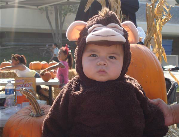 Dominic&#39;s 1st Halloween. Gotta love him in his monkey outfit. <span class=meta>(KFSN Photo&#47; uReport.abc30.com)</span>