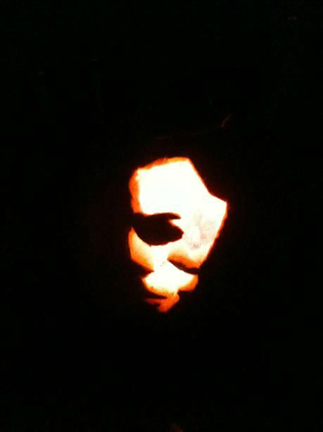 "<div class=""meta ""><span class=""caption-text "">Mike Myers Carved Pumpkin. By Christopher Swengel, Jr. (KFSN Photo/ uReport.abc30.com)</span></div>"