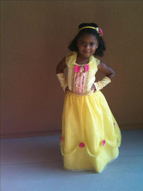 Picture of Savannah as Belle from Beauty and the Beast. Taken by mom, Allyson Scott. <span class=meta>(KFSN Photo&#47; uReport.abc30.com)</span>