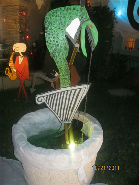 "<div class=""meta image-caption""><div class=""origin-logo origin-image ""><span></span></div><span class=""caption-text"">Hello to all do we have Halloween in our front yard.All charactert are handmade with Jack and Sally 6 ft tall and waterfall Lizard and the moon beaning with music in the air.at 2037 E.Yeargin Drive,Fresno.North Shephard and Maple Ave (KFSN Photo/ uReport.abc30.com)</span></div>"