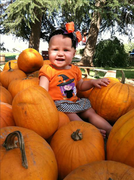 Ellasyn at Home Grown Cellars Pumpkin Patch in Madera. <span class=meta>(KFSN Photo&#47; uReport.abc30.com)</span>